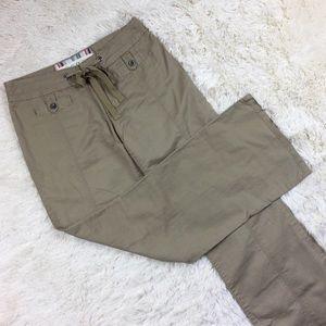 Anthropologie Linen Blend Wide Leg Pants Size 4