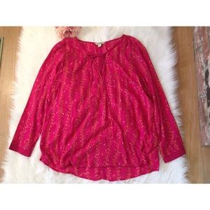 Lucky Brand Tops - Lucky Brand Oversized Tunic Ethnic Blouse L