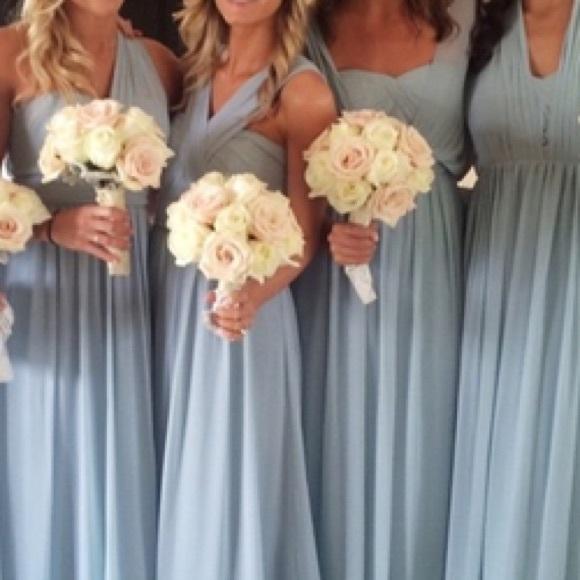 7d68bd6c78f Jenny yoo Aidan bridesmaids gown size 20 ciel blue