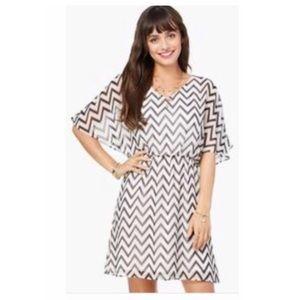 Charming Charlie Dresses & Skirts - Charming Charlie's Dress- Navy Blue & Cream