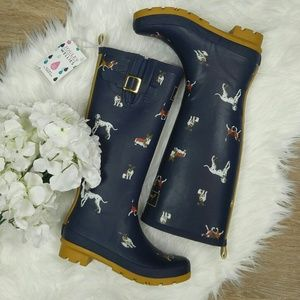 Joules Shoes - Joules dog print rainboot