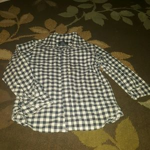 E-Land Kids Other - Adorable Navy and White checkered shirt!!!