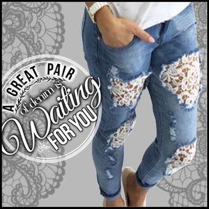 Boutique Denim - Destroyed Boyfriend Crop Jeans