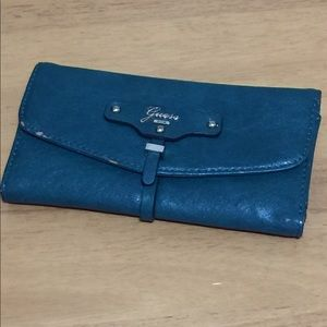 Guess Handbags - Teal Guess wallet with back zipper