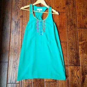 Tibi Dresses & Skirts - Tibi silk dress with beading