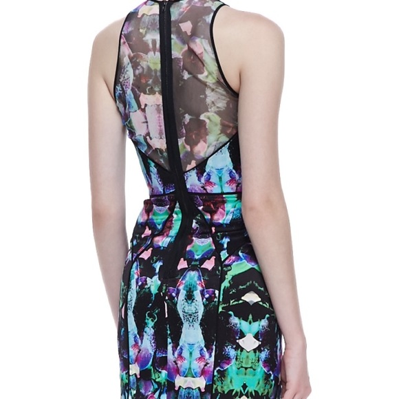 91% off Milly Dresses & Skirts - Milly mesh coco orchid ...
