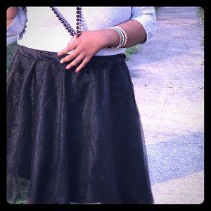 Plus black tulle skirt