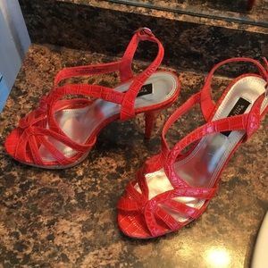 New orange cork bed White House black market heels