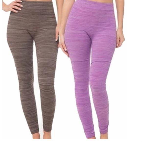 89e63a135d Coco Lemon Pants | Space Dye Leggings Size Lxl Nwt | Poshmark