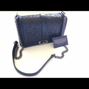 Rebecca Minkoff Handbags - Rebecca Minkoff BLACKXBLACK Sequin love crossbody