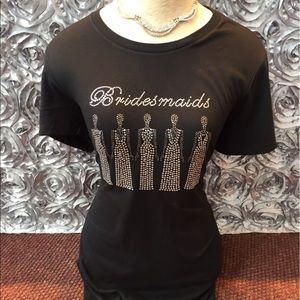 Tops - Customize  bride/ bridesmaid shirts