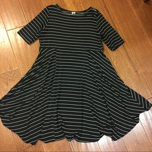 """""""Get your stripes straight"""" dress. COMFY USA."""