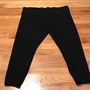 LOFT Pants - Black Polka Dot Loft Leggings