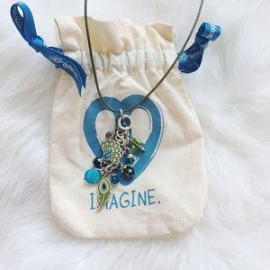{brighton} 🌿 imagine peace peacock necklace