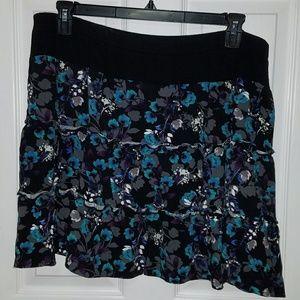 Blue Flowered Skirt