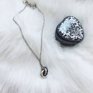 {brighton} 🌿 interlocking rings crystal necklace