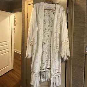 Other - Revolve Clothing Crochet Lace Beach Robe/Caftan