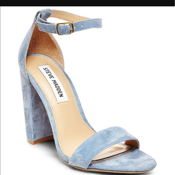 New Suede Steve Madden Blue Block Heels