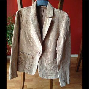 mandee Jackets & Blazers - Distressed-Look  Corduroy Blazer (Like New)