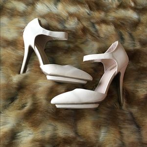 Charlotte Russe - Nude Pointed Toe Pump
