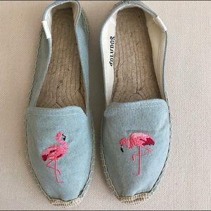 Soludos Shoes - Soludos flamingo chambray espadrilles
