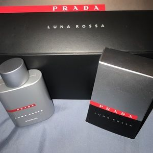 Prada Linea Rossa Other - Prada Luna Rossa shower gel & large box NWT