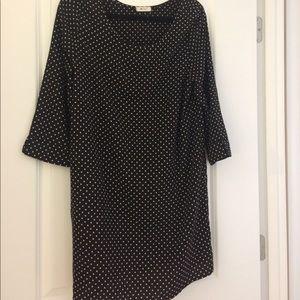 Black gold polka dot dress