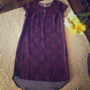Navy & Orange Pattern Merona Dress, Sz M