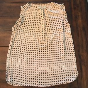 Loft sleeveless blush colored top