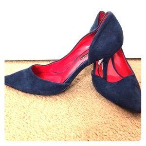 Charles Jourdan Shoes - Blue Suede Heels