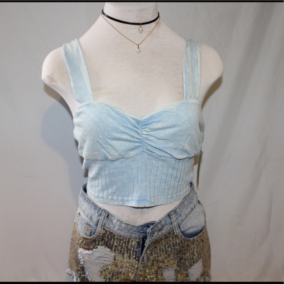 d7c8e49fabab Acid washed crop top from NORDSTROM. Small   Med