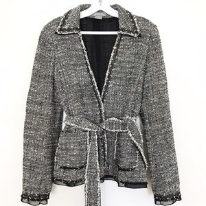 | A n n  T a y l o r | Black white Tweed Coat