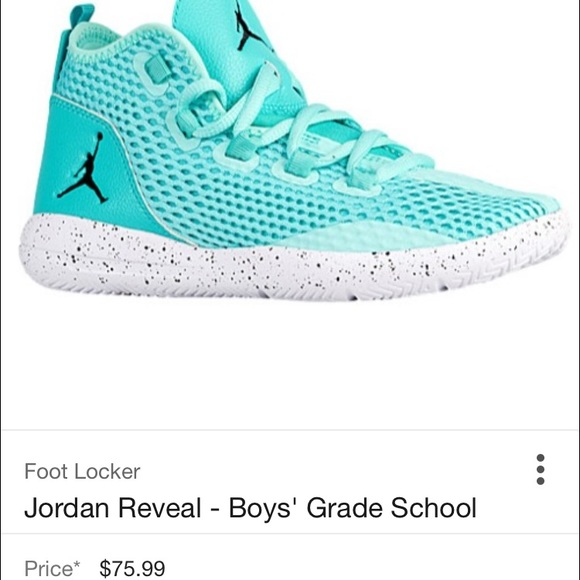 Air Jordan Reveal Youth Basketball shoes turquoise