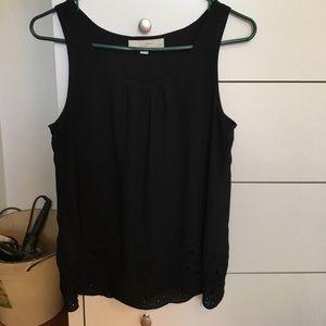 LOFT black sleeveless blouse