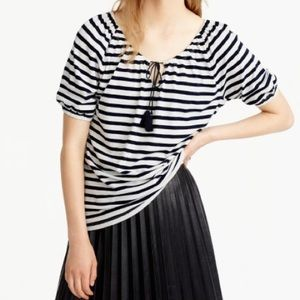 J. Crew Tops - NWT JCrew Striped Peasant Blouse 🆕