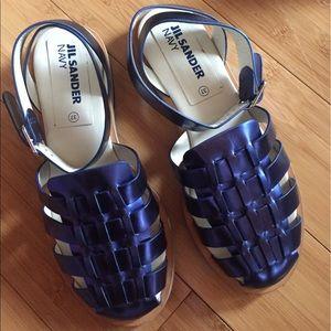 Jil Sander navy sandal 37