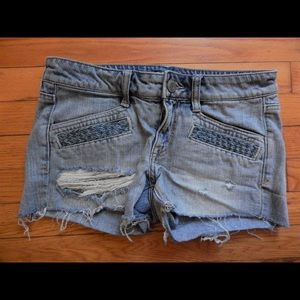 American Eagle Outfitters Pants - American Eagle Distressed Denim Jean Shorts Sz 4