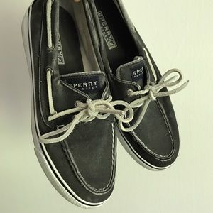 Sperry Shoes - Grey Dinem Distressed Sperry Top-Sider