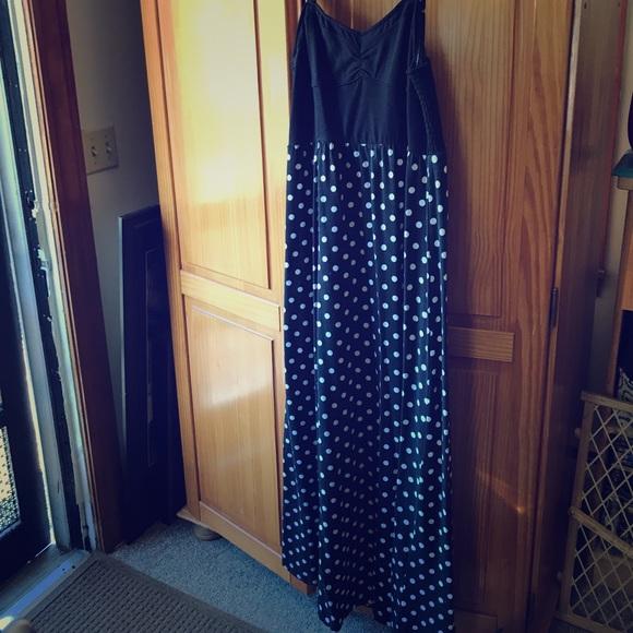 Aeropostale Dresses & Skirts - Polka dot maxi dress