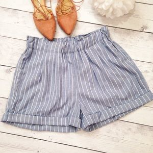 Pants - LAST Pair! Women's Striped Blue & White Shorts