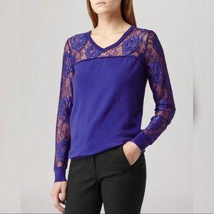Reiss Sweaters - Reiss Chloe Lace Sweater Blue Small