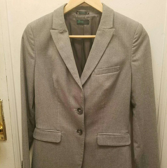 benetton Jackets & Coats - Benetton blazer in light gray as new