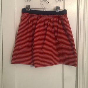 Orange and navy J.crew skirt
