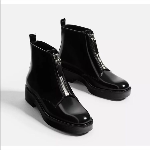 44 Off Zara Shoes Nwt Zara Front Zip Ankle Boots From