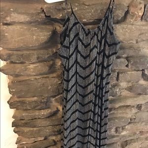 Merona black & grey maxi dress