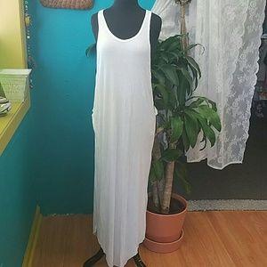 Indah Dresses & Skirts - Indah side cut out white maxi dress size s/m