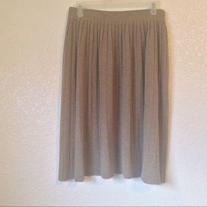 Zara knit skirt, pleated, size Medium