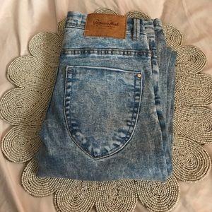 Light acid wash Zara skinny jeans