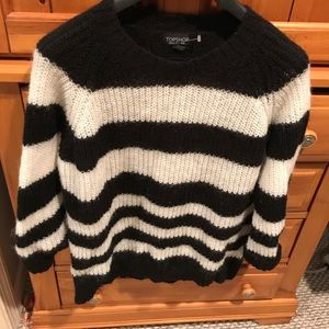 Topshop Sweaters - Topshop striped 3/4 sleeve sweater Sz 4