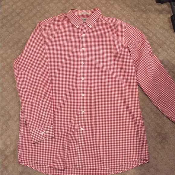 67 off l l bean other men 39 s ll bean button plaid shirt for Ll bean wrinkle resistant shirts